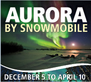 aurora by snowmobile